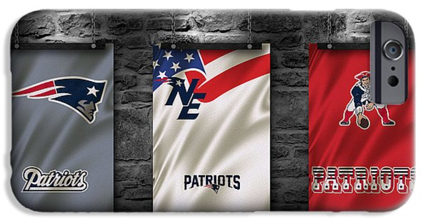 Sports iPhone Cases - New England Patriots iPhone Case by Joe Hamilton
