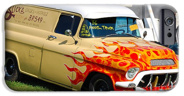 1956 Ford Truck iPhone Cases - 56 Panel Truck iPhone Case by Mark Spearman