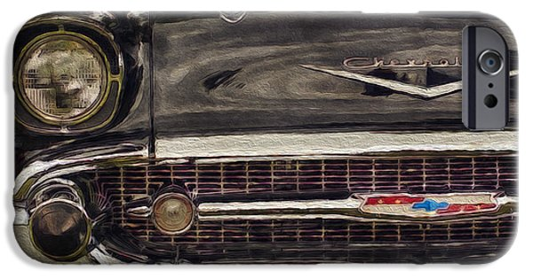 Airbrush iPhone Cases - 57 Chevy Belair  iPhone Case by Jack Zulli