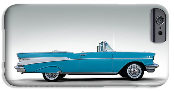 Convertible iPhone Cases - 57 Chevy Convertible iPhone Case by Douglas Pittman