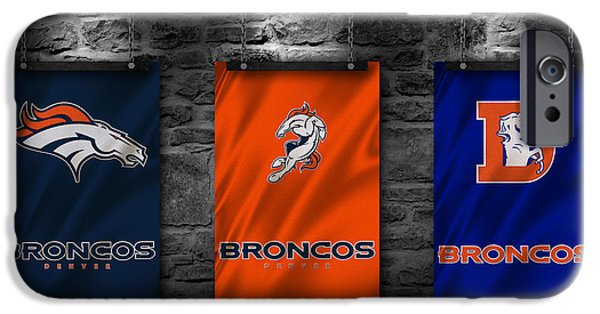 Broncos. Denver Broncos iPhone Cases - Denver Broncos iPhone Case by Joe Hamilton