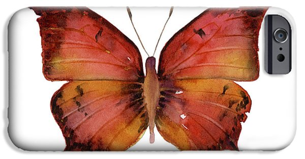 Moth iPhone Cases - 58 Andria Butterfly iPhone Case by Amy Kirkpatrick