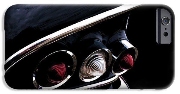 Tails iPhone Cases - 58 Chevy Impala Fin iPhone Case by Douglas Pittman