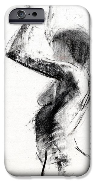 Figure Drawing iPhone Cases - RCNpaintings.com iPhone Case by Chris N Rohrbach
