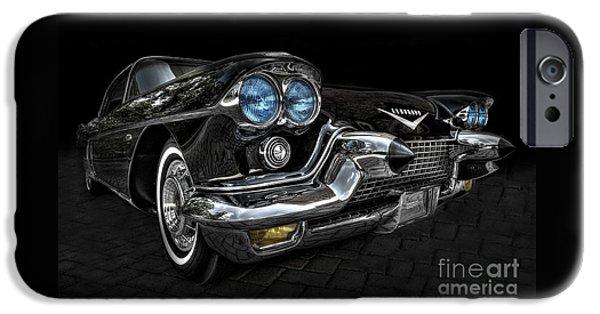 Old Cars iPhone Cases - 57 Eldorado Brougham2 iPhone Case by Ken Johnson