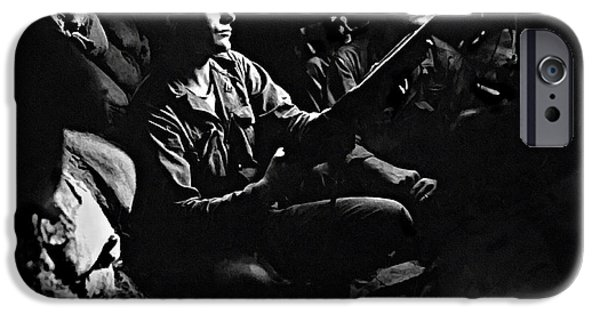 5th Infantry Regiment iPhone Cases - 5th RCT Tunnels 40 yds from Chinese Communists iPhone Case by  Bob and Nadine Johnston