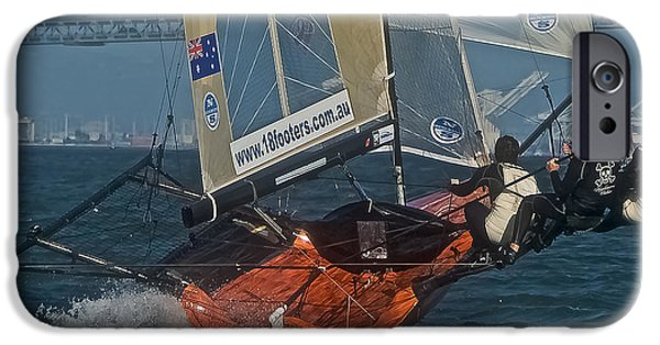 Sailing iPhone Cases - 18 International Skiff iPhone Case by Steven Lapkin