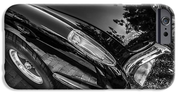 Nineteen iPhone Cases - 1959 Chevy Corvette Convertible BW  iPhone Case by Rich Franco