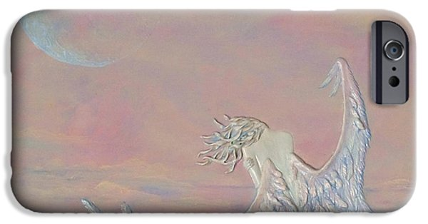 Full Sculptures iPhone Cases - Alone iPhone Case by Christine Cholowsky