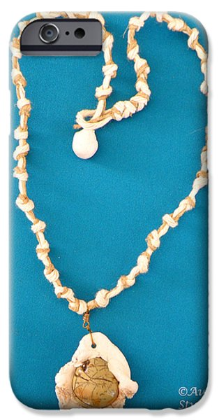 Aphrodite Antheia Necklace iPhone Case by Augusta Stylianou