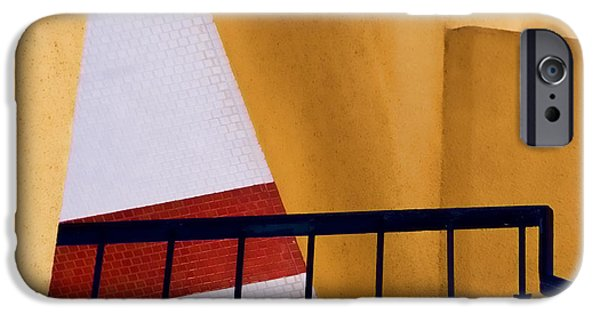 Diagonal iPhone Cases - Architectural Detail iPhone Case by Carol Leigh