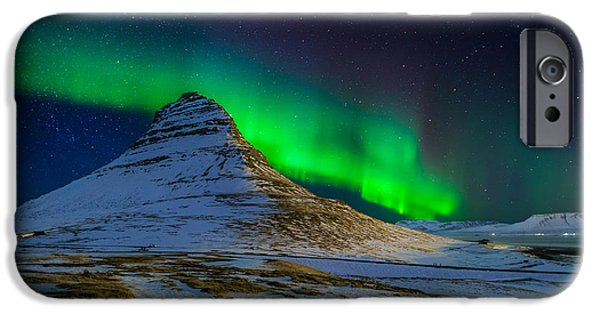 Northern Lights iPhone Cases - Aurora Borealis Or Northern Lights iPhone Case by Panoramic Images