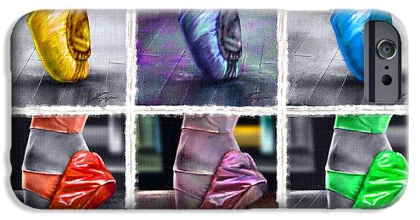Ballet Dancers iPhone Cases - 6 Ballerinas Dancing iPhone Case by Reggie Duffie
