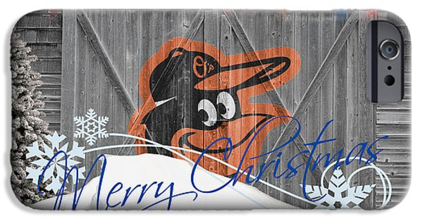 Mlb iPhone Cases - Baltimore Orioles iPhone Case by Joe Hamilton