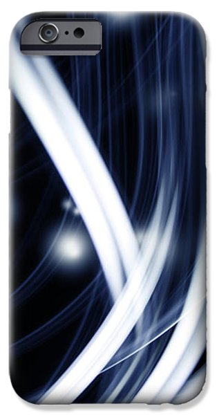 Blue lines  iPhone Case by Les Cunliffe