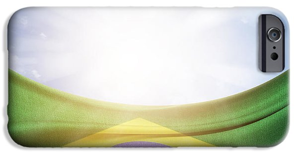 Outside iPhone Cases - Brazilian flag iPhone Case by Les Cunliffe