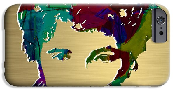 Bruce Springsteen Prints iPhone Cases - Bruce Springsteen Gold Series iPhone Case by Marvin Blaine