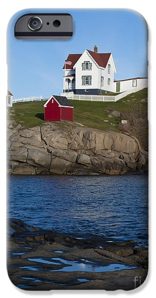 Cape Neddick Lighthouse iPhone Cases - Cape Neddick Lighthouse iPhone Case by John Shaw