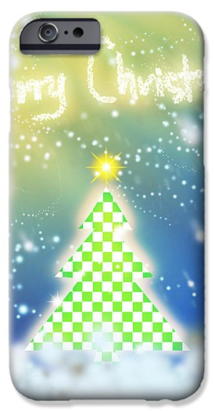 chess style christmas tree iPhone Case by ATIKETTA SANGASAENG