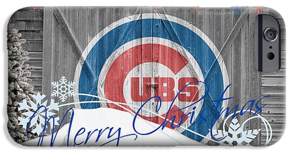 Cubs Photographs iPhone Cases - Chicago Cubs iPhone Case by Joe Hamilton