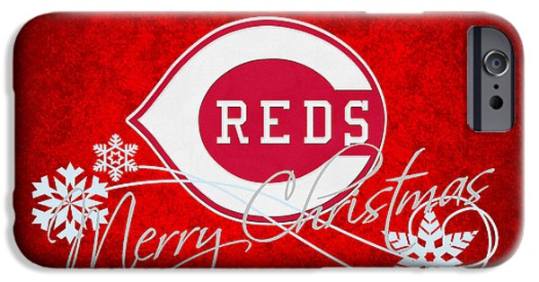 Baseball Glove iPhone Cases - Cincinnati Reds iPhone Case by Joe Hamilton