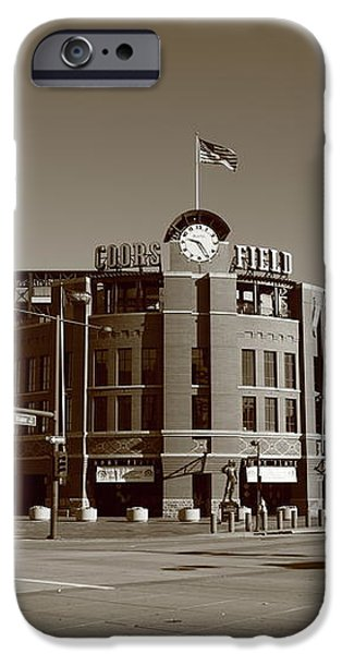 Coors Field - Colorado Rockies iPhone Case by Frank Romeo