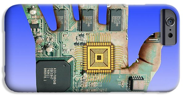 Component iPhone Cases - Cybernetics And Robotics iPhone Case by Victor de Schwanberg