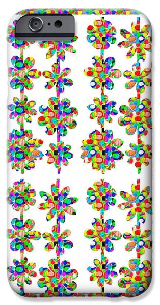 Diy iPhone Cases - Flower Pattern using Artist Created Color Tone n Textures DIY Template Download License Print Rights iPhone Case by Navin Joshi
