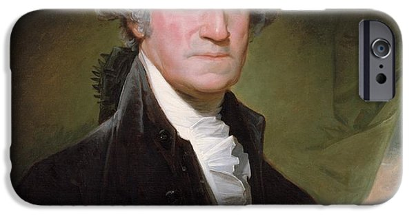 4th July Paintings iPhone Cases - George Washington iPhone Case by Gilbert Stuart