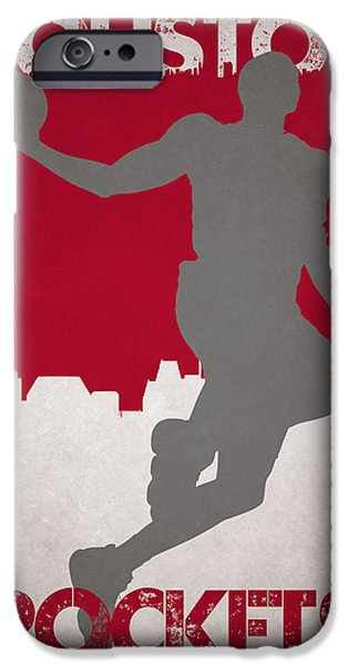 Dunk iPhone Cases - Houston Rockets iPhone Case by Joe Hamilton