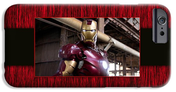Comic iPhone Cases - Iron Man iPhone Case by Marvin Blaine