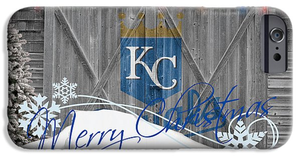Baseball Glove iPhone Cases - Kansas City Royals iPhone Case by Joe Hamilton