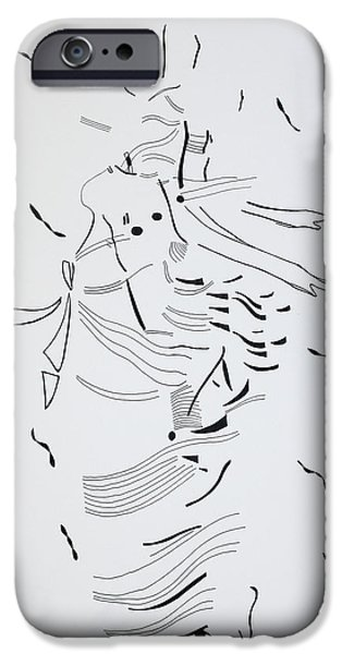 Jesus Drawings iPhone Cases - Kiganda Dance - Uganda iPhone Case by Gloria Ssali