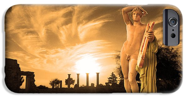 Planet Fantastic iPhone Cases - Kourion-Temple of Apollo iPhone Case by Augusta Stylianou