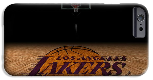 Dunk iPhone Cases - Los Angeles Lakers iPhone Case by Joe Hamilton