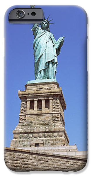 Patriotism iPhone Cases - Low Angle View Of A Statue, Statue Of iPhone Case by Panoramic Images