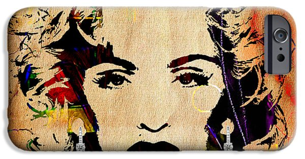 Madonna iPhone Cases - Madonna Collection iPhone Case by Marvin Blaine