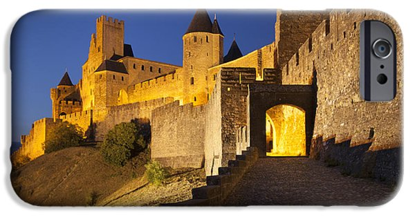 Castle iPhone Cases - Medieval Carcassonne iPhone Case by Brian Jannsen
