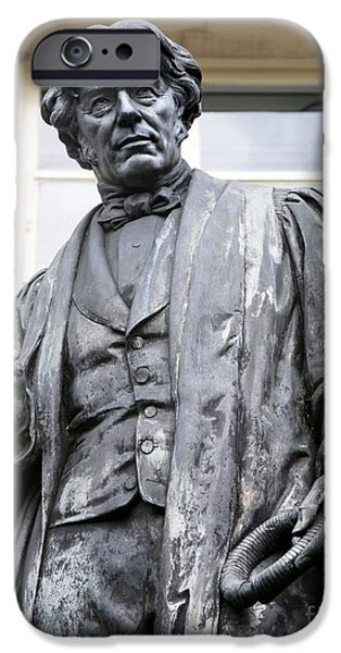 Statue Portrait iPhone Cases - Michael Faraday, British Physicist iPhone Case by Sheila Terry
