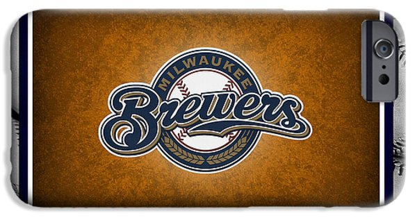 Baseball Field iPhone Cases - Milwaukee Brewers iPhone Case by Joe Hamilton