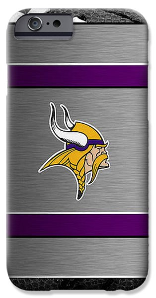 MINNESOTA VIKINGS iPhone Case by Joe Hamilton