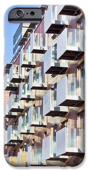 Balcony iPhone Cases - Modern apartments iPhone Case by Tom Gowanlock