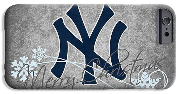 Base iPhone Cases - New York Yankees iPhone Case by Joe Hamilton