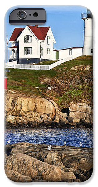 Nubble Lighthouse iPhone Case by John Greim