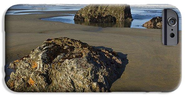 Beach Landscape iPhone Cases - Oregon Coast iPhone Case by John Shaw