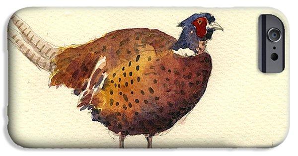 Pheasant iPhone Cases - Pheasant iPhone Case by Juan  Bosco