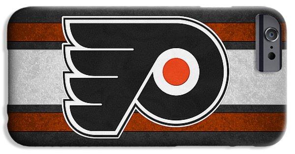 Santa iPhone Cases - Philadelphia Flyers iPhone Case by Joe Hamilton