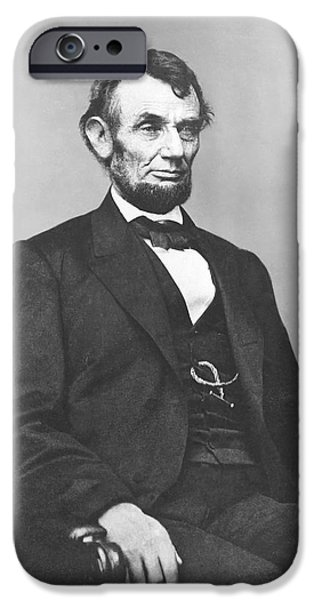 United iPhone Cases - President Lincoln iPhone Case by War Is Hell Store