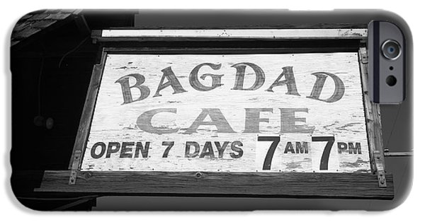 Baghdad Prints iPhone Cases - Route 66 - Bagdad Cafe iPhone Case by Frank Romeo