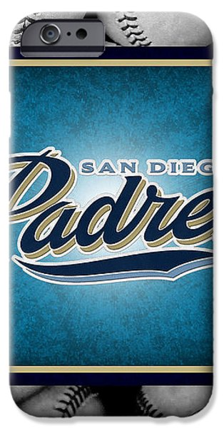 SAN DIEGO PADRES iPhone Case by Joe Hamilton